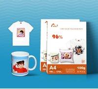 Papierprodukt 100 Blatt A4 Größe Sublimation Wärmeübertragungspapiere, 100gsm, Nutzung in Kleidung, T-Shirt, Tasse, Kissen usw