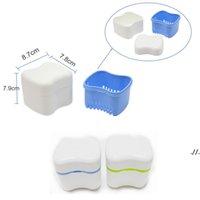 Protez Kutusu Tutucu Sepet Ile Invisalign Banyo Diş Yanlış Diş Saklama Kutuları Mavi / Yeşil / Pembe Renkler DWF6096
