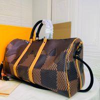 Moda de alta qualidade masculina e feminino saco de viagem grande capacidade de couro ao ar livre portátil tamanho mão tamanho 50-29-23 cm 65413441