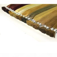 100g Pacote Prebunded Fusion Hair Extensions Straight 100Strands Pack Keratin Stick I Dica Human Hair # 1 # 1b # 2 # 4 # 8 # 27 # 613