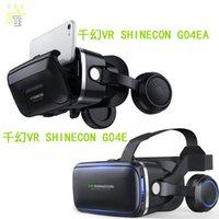 Vr shinecon 6 geração fone de ouvido telefone celular 3d virtual realidade capacete panorâmico espelho mágico vr óculos