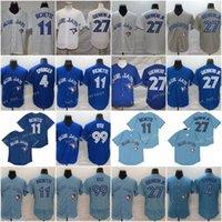 4 George Springer Baseball Trikots 99 Hyun-Jin Ryu 11 Bo Bichteette 27 Vladimir Guerrero JR genäht FlexBase Cool Base Team weiß blau grau