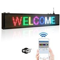 Outras luzes Iluminação 76.2cm / 30inch Ledsigns RGB Color Full SMD Display StoreFront Message Board, Programável Programa de rolagem por wifi / u