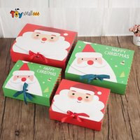 Christmas Eve Big Gift Box Santa Claus Fairy Design Kraft Papercard Present Party Favor Activity Box Red Green Gifts Package Boxes DHL