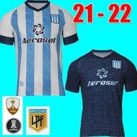 Tops Racing Club Футбол трикотаж 2021 2022 Домашние рубашки Chancalay Rojas Lisandro Футбол Джерси Копетти Ренеер Фертели Униформа 21 22 CamiSeta de Avellaneda