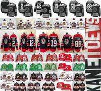 2021 Retrò Retro Black Chicago Blackhawks Hockey 19 Jonathan Toews 88 Patrick Kane 12 Alex Debrincat 2 Keith 50 Crawford 77 Kirby Maglie Dach