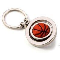파티 호의 3D 스포츠 회전 농구 축구 골프 키 체인 열쇠 고리 기념품 펜던트 키 공 선물 hwe7046