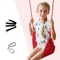 Camp Furniture Child Outdoor indoor Garden Swings For Kids Hand-kitting Seat With Adjustable Ropes Toys Hammock Chair Baby Gifts