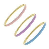 Bangle Pastel Enamel Band Bracelet 2021 Summer No Stone Full Candy Colorful Women Fashion Jewelry
