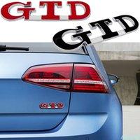 3D GTD Amblem Araba Vücut Trunk Dizel Logo Etiket Sticker Volkswagen VW Jetta Golf 2 3 4 5 6 7 MK2 MK3 MK4 MK5 MK6 MK7 Çıkartmaları