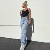 여성 청바지 엉덩이 나비 프린트 캐주얼 하이 허리 엄마 데님 90 년대 인디 오버 사이즈 여성 Y2K 하라주쿠 패션 streetwear Baggy 스트레이트