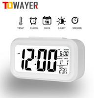 Другие часы аксессуары светодиодные цифровые будильники электронный экран рабочего стола для домашнего офиса Подсветка шнурок календарь