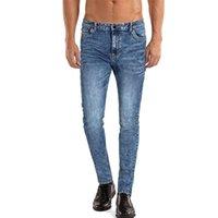 Men's Jeans Heyfanee Pants Mens Slim Fit Blue Skinny Stretch Denim Trousers For Men Straight Leg Brand Classic Male Clothing HF149