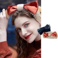 Mulheres macios de malha de lã all-match bow-nó cabeça banda estilo ocidental estilo hairband doce cabelo retro acessórios headwear 2021 bun fabricante