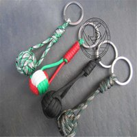 keychain Seven core umbrella rope knitting chain flashlight tail ring decoration knife Pendant