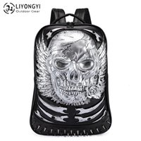 Backpack Liyongyi Men's Pu Computer Schoolbag 3d Personalized Student