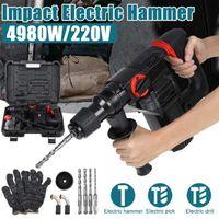 High Power Perceuse électrique Hammer Impact 220V 4980W industriel multifonctionnel de marteau rotatif multifonctionnel perforateur Hammer 4 Fonction 210430