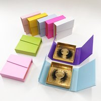 eyelash packing private label lash packaging box lashes package boxes container Custom Logo Eyelashes Pack
