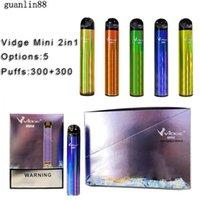 Vidge Mini 2 in 1 Double Diposable E cigarette Device 300+300 Puffs 400mAh Battery Pod Cartridge Vape Pen Kit