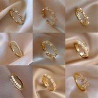 Hochzeit Ringe Boho Minimalist Open Ring Für Frauen Trendy Gold Silber Farbe Kristall Perle Schmetterling Mond Sterne Herz Einfache Schmuck