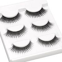 False Eyelashes Shidi Shangpin Natural Cross 3 Pairs Mink Hair Eye Lashes Set Short Front And Long Back Beauty Makeup