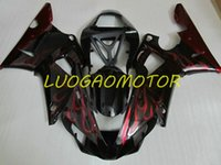 Injection Bodywork Fairings kit for YAMAHA YZF1000R1 YZF R1 2000 2001 fairing kits Cowling YZF-R1 00 01 Hogh Quality ABS Motorcycle Custom Gift Black Flame red