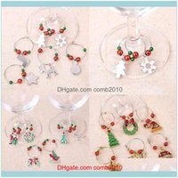 Christmas Festive Supplies Home & Gardenchristmas Wine Glass Decoration Charms Party Year Cup Ring Table Decorations Xmas Pendants Decoracio