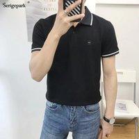 Camisas para hombres Bow Marca Serigepark Alta calidad 2021 Verano Camisa de manga corta de verano Polos de varios colores estilo británico