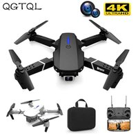 E88 Professional Mini WIFI HD 4k Drone With Camera Hight Hold Mode Foldable RC Plane Helicopter Pro Dron Toys Quadcopter Drones 210915
