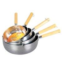 Pan de neve japonês punho de madeira alumínio panela fervido use complementar para fogões a gás tampa de panela cozinhar panelas