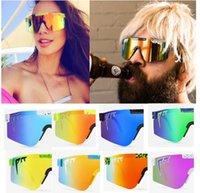 Fashionable Sun Frames Homem Pit Viper Sunglasses Equitação Óculos Mulheres Dring Dring Vento Vidros Vidros Vidros Moda Moda Ciclismo Vidro de Ciclismo 6colors One Piece Lente UV400 Navio Grátis