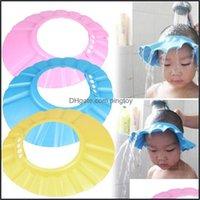 Kapaklar Bebek, Maternityeva Köpük Ayarlanabilir Bebek Çocuk Şampuan Banyo Duş Kap Şapka Yıkama Saç Kalkanı Çocuklar Kafa Bırak Teslimat 2021 DZCHR