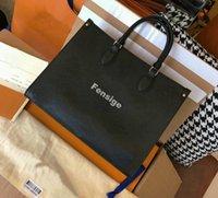 Onthego SS21 ماكرة حقائب اليد حقائب نيونو الفاخرة مصمم أكياس تنقش تسوق سريع M45718 35 سنتيمتر مصغرة 25 سنتيمتر 41 سنتيمتر
