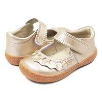 Tipsietoes Top Brand Comepact Натуральная Кожа Детская Обувь Для Девочек Кроссовки для Мода Босиком Малыши Мэри Джейн Бесплатный корабль LJ201027