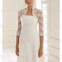 Wraps & Jackets Lace Wedding Boleros 2021 3 4 Three Quarter Sleeves Bridal Formal Party Cape Women Coat Shrug Accessories Custom