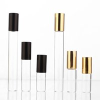 2ml 3ml 5ml 10ml glass roll on bottle for essential oils,refillable perfume containers with stainless steel roller balL dff4990