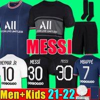21 22 PSG camisa de futebol MESSI MBAPPE NEYMAR JR SERGIO RAMOS HAKIMI Maillot De Foot Paris Saint Germain JORDÃO Camisa de futebol 2021 2022 homens criança da Quarta camisa