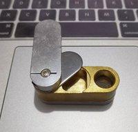 Metal Folding Pipes Design Two Layer Metal pipe Hand Tobacco pipes Foldable Monkey Pipe Turning Smoking Pipe jmflowshop selling
