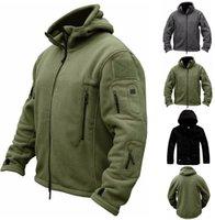 Uomo US Winter Thermal Pile Giacca Tactical Giacca da esterno Sport Cappotto con cappuccio Softshell Escursionismo Giacche da esterno dell'esercito