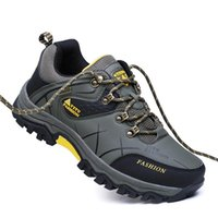 Boots Fashion Anti-skid Waterproof And Wear-resistant Outdoor Hiking Mens Shoes Casual Round Toe Winter Work Plus Size