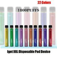 Iget XXL оригинальные аутентичные одноразовые устройства POD-устройства сигареты 1800 слойки предварительно заполненные Vape Pen 7ML картриджи 950 мАч E-сигареты