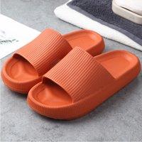 2021SS 남자 여성 슬라이드 슬리퍼 두꺼운 플랫폼 여름 해변 에바 에바 소프트 솔 슬라이드 샌들 레저 숙녀 실내 욕실 안티 - 슬립 신발 A18