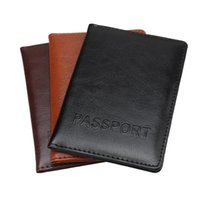 Toiletry Kits Zoukane Solid Color Simple Letters PU Leather Passoport Cover Case Holder Wallet Travel Accessories Passport ZSPC62