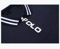2205 # Polos Luxo Moda Classic Letter Stripe Camisa Bordada de Algodão Homens Branco Black Designer Polo 11 M-XXL