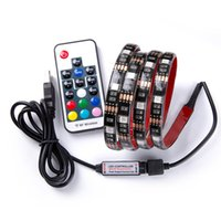 Водонепроницаемый 5В светодиодный ленги 0.5 м 100 см (3,28 фута) 2 м. Гибкие 5050 RGB Подсветка USB кабель RGB и мини-контроллер с 17 24 ключевыми пультами дистанционного управления