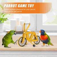 لوازم الطيور الأخرى الببغاء التدريب ركوب اللغز الطيور الدراجة