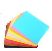 40x30cm Silicone Mats Tools Baking Liner Muiti-function Silicone-Oven Mat Heat Insulation Anti-slip Pad Bakeware Kid Table Placemat OWF10791