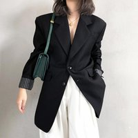 Women's Suits & Blazers Black Small Business Suit Coat Korean-Style British Style Spring And Autumn Design Sense Niche Casual Fried Street