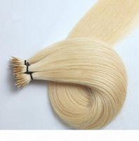 Brazilian Human Hair 0.8g strand 200strands lot blonde #613 #60 Nano Ring Human Hair Extension Straight Wave