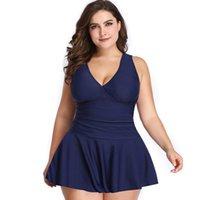 المرأة ملابس النساء S-5XL ملابس النساء خمر طباعة زائد الحجم Tankini شاطئ اللباس الاستحمام البدلة تنورة ارتداءها الإناث البرازيلي monokini